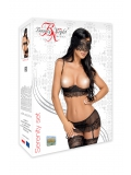 Serenity, intrigante completino nero in pizzo - lingerie sexy Beautynight ref BN9603