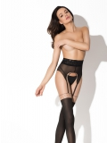 Pin up, bellissimi sexy collant 40d a effetto reggicalze - lingerie Amour ref AM1214