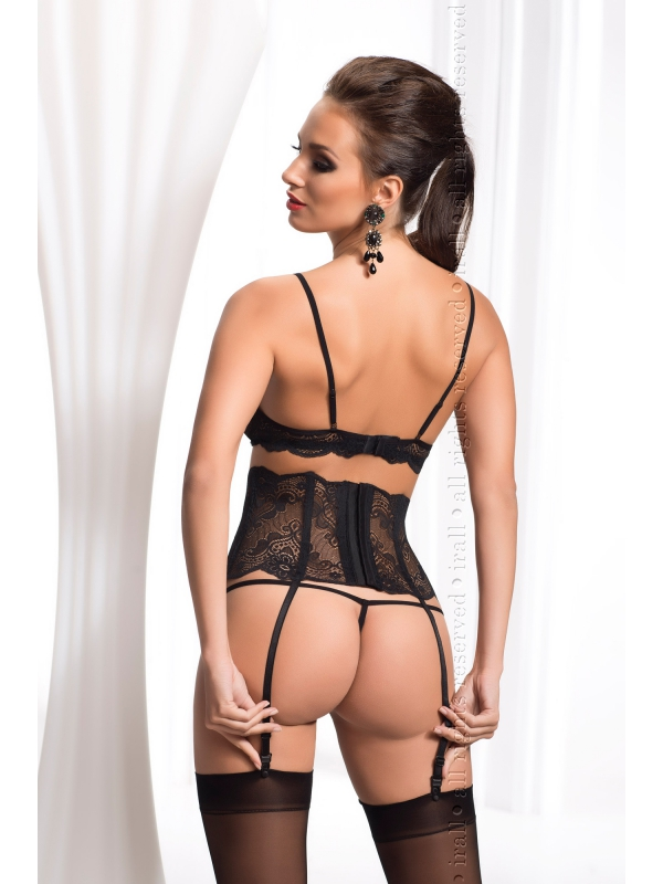 Madison, elegante completino in pizzo 3 pezzi - lingerie sexy Irall ref IR10057